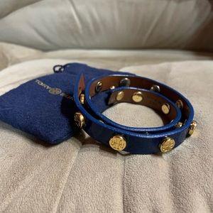 Tory Burch Wrap Bracelet in Navy
